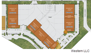 San Antonio International Airport Hangar plan.