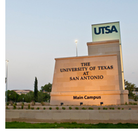 The main entrance to The University of Texas at San Antonio