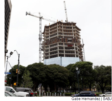 The Frost Tower under construction.