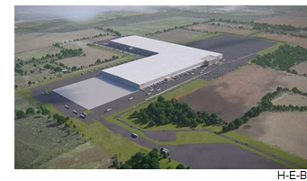 A rendering of the HEB distribution Facility.