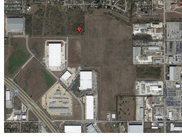 Aerial image of the tract of land Hines bought.
