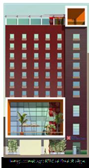 Rendering of Hilton Garden Inn in Downtown San Antonio