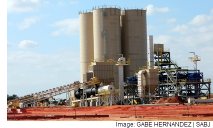 An image of a frac sand mine and processing plant.