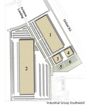 Site plan of the industrial facilities.