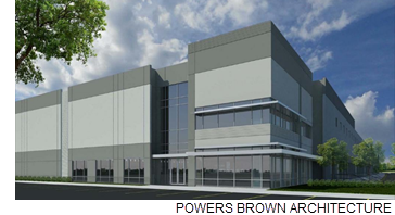 Rendering of Logistics Commerce Center.