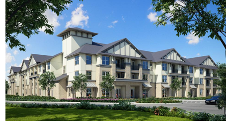 Architects rendering of the El Sereno project in Cibolo, Tx, just outside of San Antonio on the north-west side.