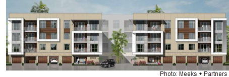 Rendering of the planned apartment community at The Rim in San Antonio.