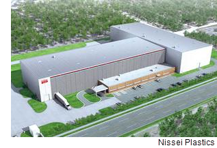 A rendering of the manufacturing facility located on the former Brooks air force base.