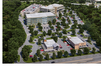 Rendering of the 15-acre development.