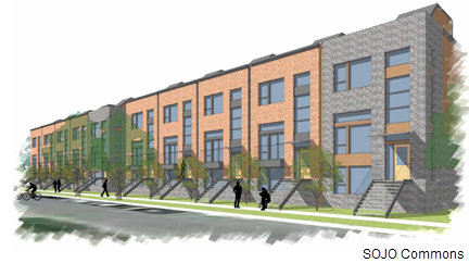 A rendering of the SOJO Commons.