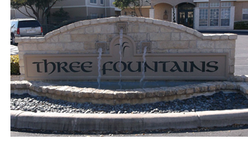 Three Fountains in San Antonio.
