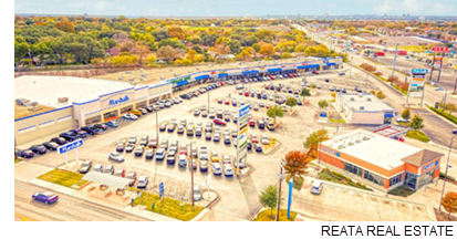 Aerial image of the Valley View Shopping Center.