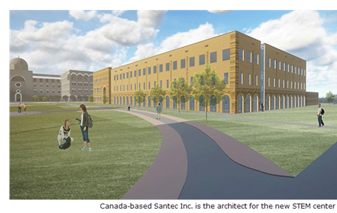 Canadian Santec Inc. is the architect on the project