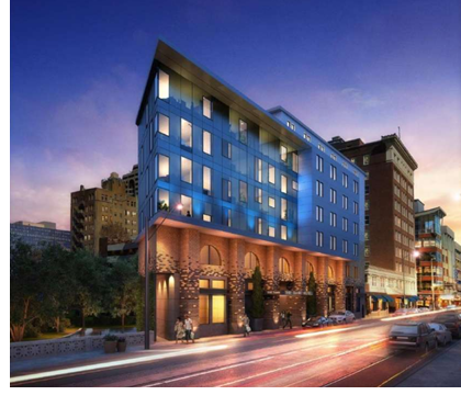A rendering of the hotel project from San Antonio's Historic And Design Review Commission.