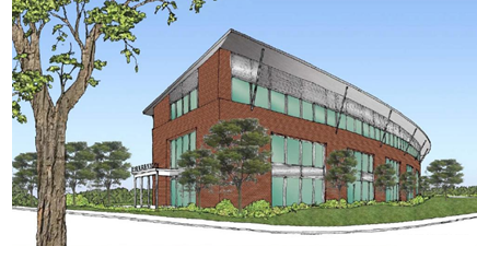 A rendering of the Cibolo Medical Office Building in Cibolo, Texas.
