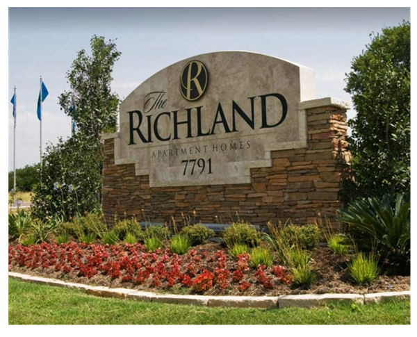 The richland apartments that has