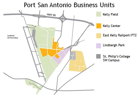 Layout of the Port San Antonio development