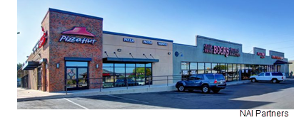 NAI Partners' Investment Fund II, a Houston-based real estate firm, now owns a San Marcos shopping center that features Pizza Hut, Half-Price Books and Nationwide Insurance.