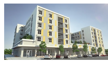 Rendering of the Local Downtown, a student housing community