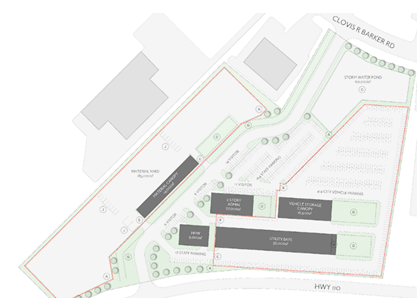 Site plan for new San Marcos public and community services complex