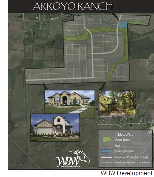 Site plan for Arroyo Ranch from WBW development.
