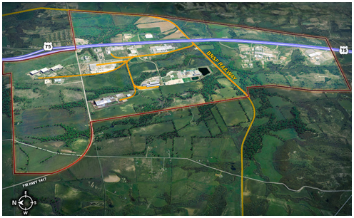 Progress Park Map in Sherman over one billion dollars