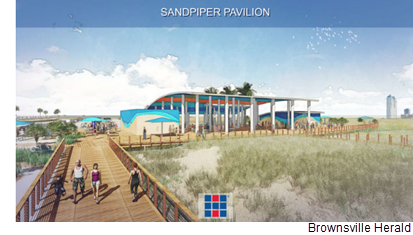 A rendering of the Sandpiper Pavilion, part of a $17M  park improvement project.