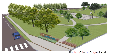 Image of the concept art for Mayfield Park's reconstruction