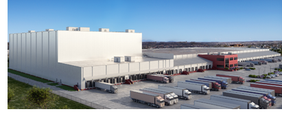 Rendering of Lineage Logistics Food Distribution facilities expansion