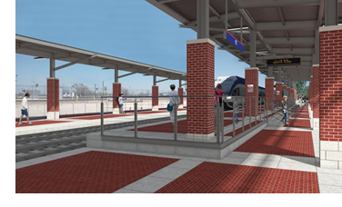 Rendering of a TEXRail Station.