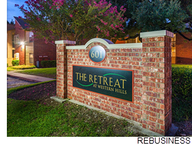 The Retreat at Western Hills signage.