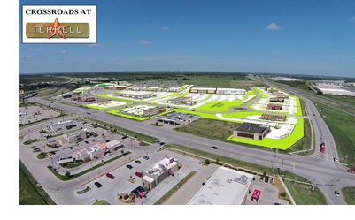 A rendering of the Crossroads project in Terrell, Texas.