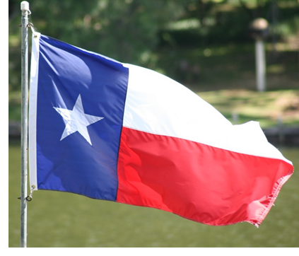 A picture of the Texas Flag—the Lone Star Flag