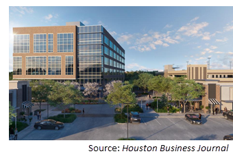 Rendering of the office building when completed.