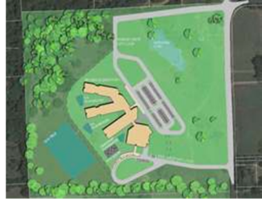 Site plan of the Mozelle Brown Elementary School