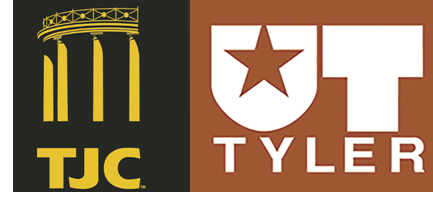 Logos for UT-Tyler and TJC