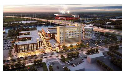 Rendering of Brazos Commons in Waco