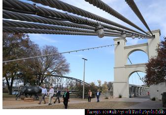 Image of suspension bridge