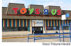 Toys R Us building in Waco.