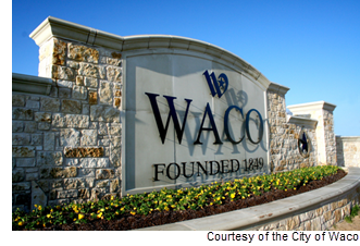 City of Waco sign