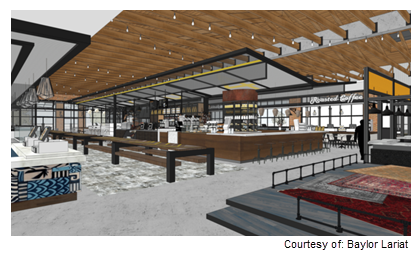 Rendering of Waco dining hall