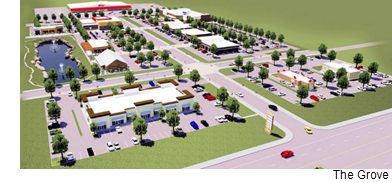 A rendering of The Grove in Waxahachie.
