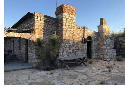 The main house at The Villa de la Mina, a ghost town in Terlingua, which is near Big Bend in West Texas. The Villa de la Mina is for sale for $1.75 million.