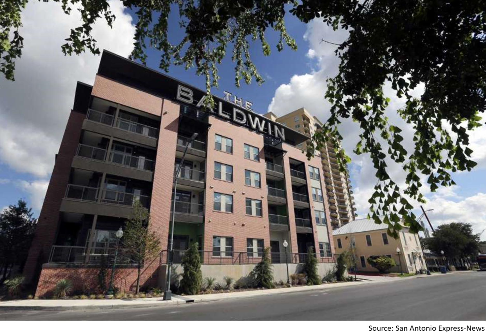 The Baldwin at St. Paul Square is set to sell.