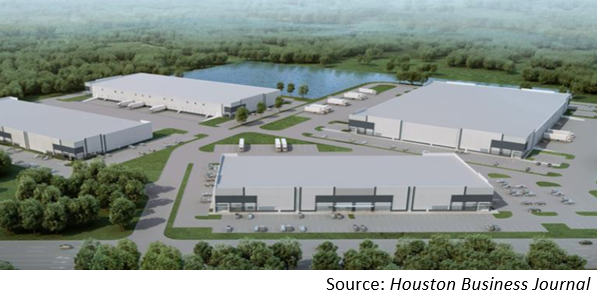 Rendering of the 45-acre site from an aerial view.