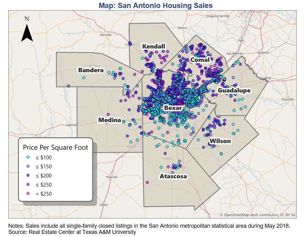 San Antonio housing affordability map
